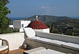 Village house, Chora, Patmos, Greece - View from the roof terrace
