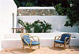 The roof terrace, from the door from the main bedroom, looking southerly - Village house, Chora, Patmos, Greece