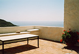 View westerly from the roof terrace - Village house, Chora, Patmos